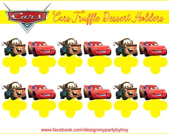 DISNEY PIXAR CARS, Cars Lightning McQueen, Tow Mater, Cars Party Decor, Cars Party Favors,Chocolate Holders,Forminhas, Doces, Caixas,Disney.