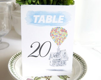 Disney Inspired UP Theme Table Numbers (1-10)