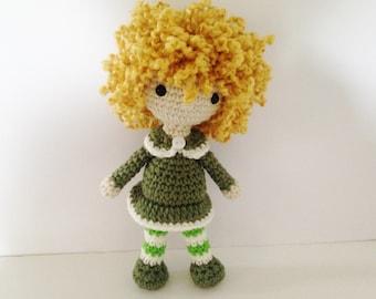 Crochet Doll / Amigurumi Stuffed Girl Doll Toy / Hazel