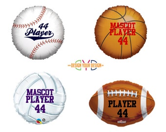Personalized Sports Mylar Balloons!!