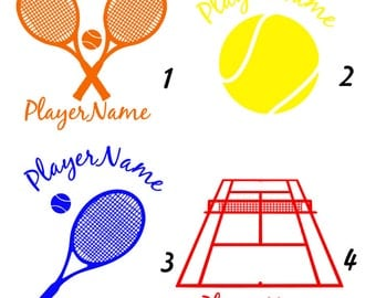 Custom Tennis Decal - With Name
