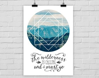 print poster WILDERNESS IS CALLING