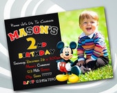 DIGITAL FILE Mickey Mouse Invitation - Mickey Mouse Invite - Mickey Mouse Printable - Mickey Mouse Birthday Party