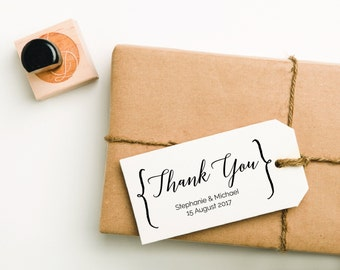 Thank You Rubber Stamp, Thank You Stamp, Wedding Stamp, Thank You Favor Stamp, Personalized Thank You Stamp, Wedding Thank You (STHAN300)