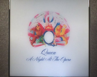 QUEEN A Night At The Opera Record Cover Art Ceramic Tile Coaster