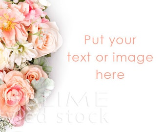 Styled Stock Photography / Spring Background / Floral / Wedding Flowers / Bouquet / Wedding Background / Pastel Flowers / StockStyle-663