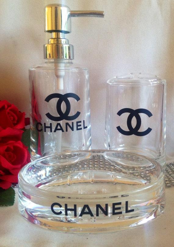 Chanel Inspired Bathroom Set Chanel Vanity Set Chanel By