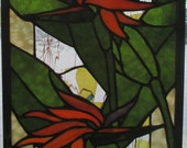 BIRD OF PARADISE--Stained Glass Panel