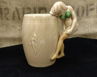 ON SALE Vintage Dorothy Kindell Strip Tease Mug