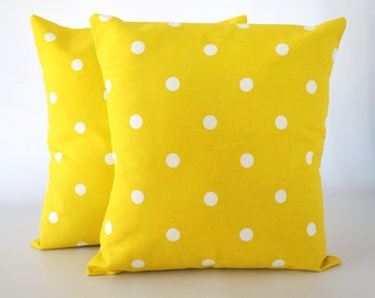 Yellow 18x18 pillow, yellow pillow, yellow decorative pillow, yellow pillow cover, pillow cover, throw pillows, cushion, decorative pillows