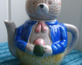 Teddy bear teapot - vintage decoration teapot