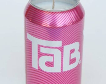 TaB soda can candle/Pink/Coca Cola Company/Gift for her/Girlfriend gift/Gift for mom/Homemade Soy candle/Pink Candle/Coca Cola Candle