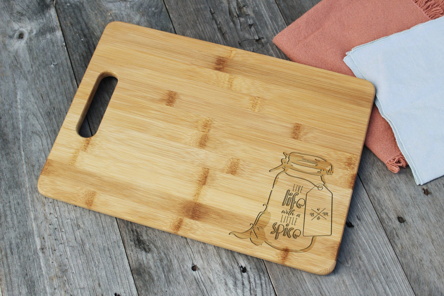 Personalized cutting board engraved custom wood cutting board - Engraved wooden chopping boards ...