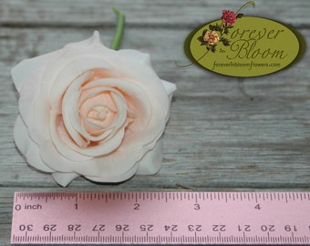 Real Touch Blush Rose Wedding Cake Flowers / Real Touch Blush Rose / Artificial Blush Rose Wedding Cake Flowers / Real Touch Cake Flowers