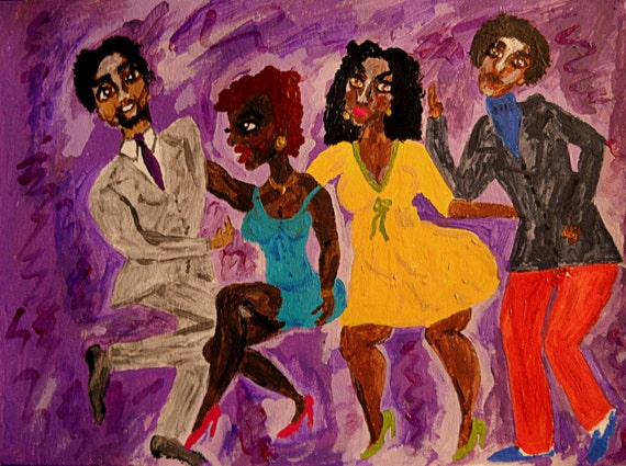 "Original Acrylic Painting, JUST LIKE THIS!, Black Art, cultural art, by African American Artist Stacey Torres - ""The Twist!"""