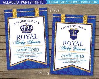 Royal Baby shower party Invitation printable- 24hours turnaround time!