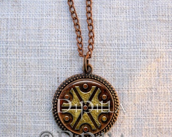 Slavic Thundermarks of Perun Pendant with Leather Cord