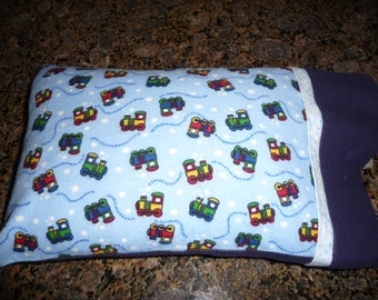 Toddler Pillow/Travel Sized Pillow/ Trains/Chew Chews/Child Pillow/Small Pillow