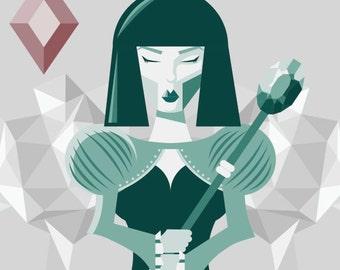 Queen Of Diamonds Digital Print File
