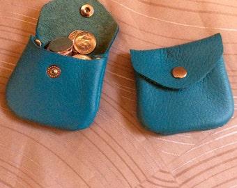 small coin purse, tiny coin purse, small coin purse, leather coin purse, coin pouch,money purse,genuine leather,coin, leather coin bag,blue