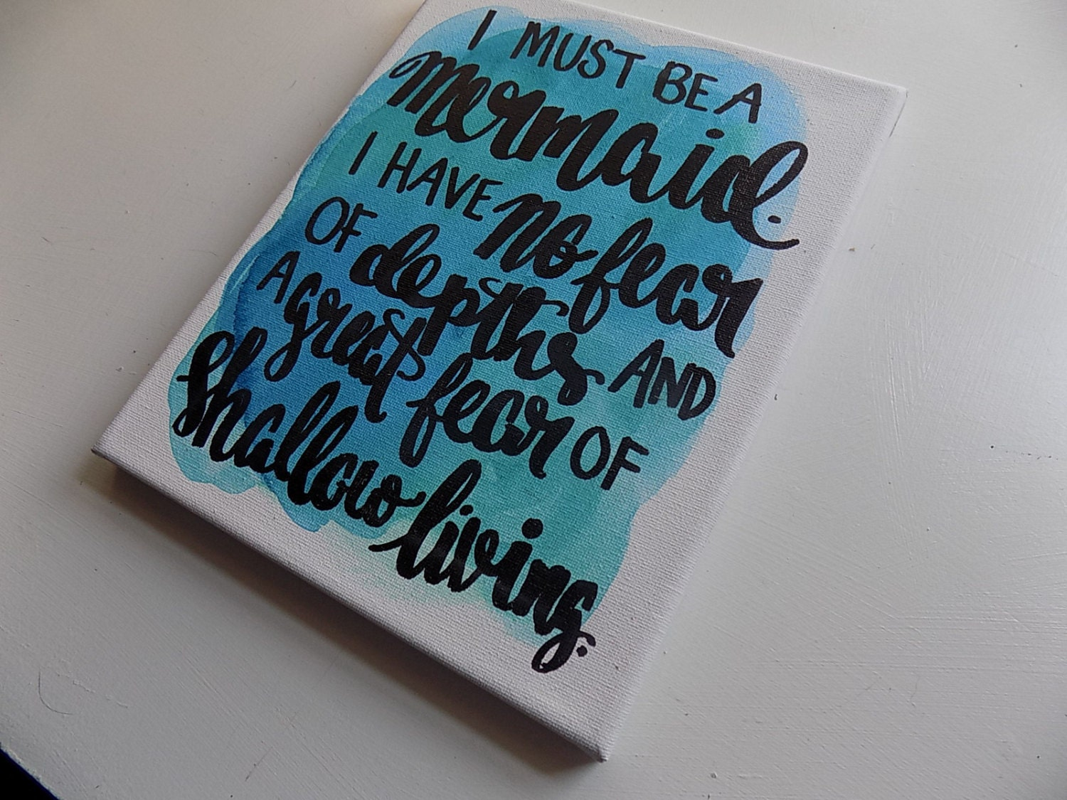 Mermaid Quote I Must Be A Mermaid Canvas Quote Art Home Decor