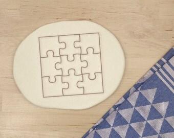 Puzzle 3D de Cookie Cutter - emporte-pièce de Puzzle morceau Cookie Cutter scie sauteuse forme carré - imprimé