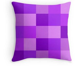 Purple Pillow, Purple Toss Pillow, Purple Geometric Pillow, Purple Pillow Cover, Purple Abstract Pillow, Purple Throw Pillow, Purple Bedroom