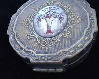 Antique compact powder case