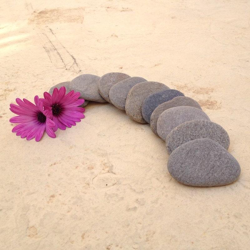 10 flache strand steine flache strand kies hochzeit steine. Black Bedroom Furniture Sets. Home Design Ideas