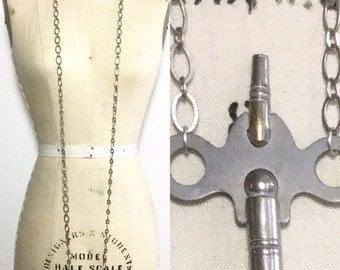 Clock Key Necklace - Vintage Key Necklace