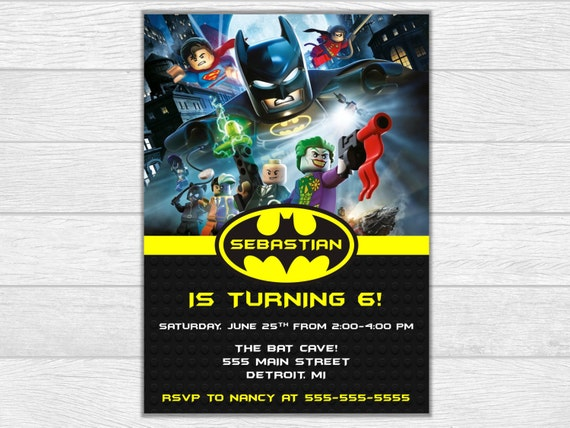 Batman invitation, batman birthday, lego batman invite, birthday invitation, birthday invite, lego batman birthday, lego batman, superhero