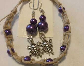 Turtle Jewelry Set