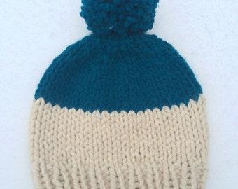 Color Block Winter Hat