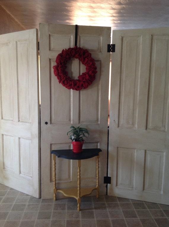 Hinged Room Dividers : Reclaimed old doors hinged room divider