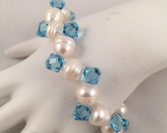 Fresh Water Pearl Swarovski Bracelet