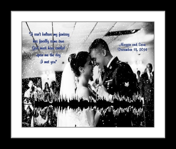 Wedding Gifts For Army Couples : ... gift for air force couple dog tags marine wife army print navy wedding