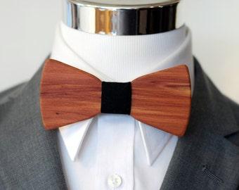 Cedar Wood - Wooden Bow Tie - Suits - Wood Bowtie - Men's Ties - Interchangeable Neck Strap
