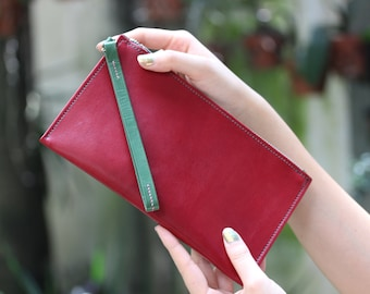 Leather Clutch, leather purse, Handmade leather clutch, simple purse, Leather wallet
