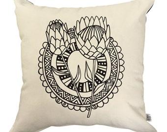 Throw Pillow Cover - Protea Dreams