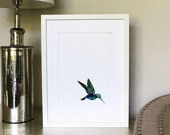 Giclée Mounted Print- Hummingbird