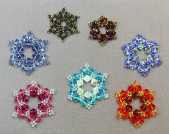 Swarovski Crystal Snowflake Ornament Pattern