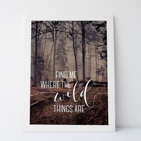 Printableart find me where the wild things are - Things you find on walls ...