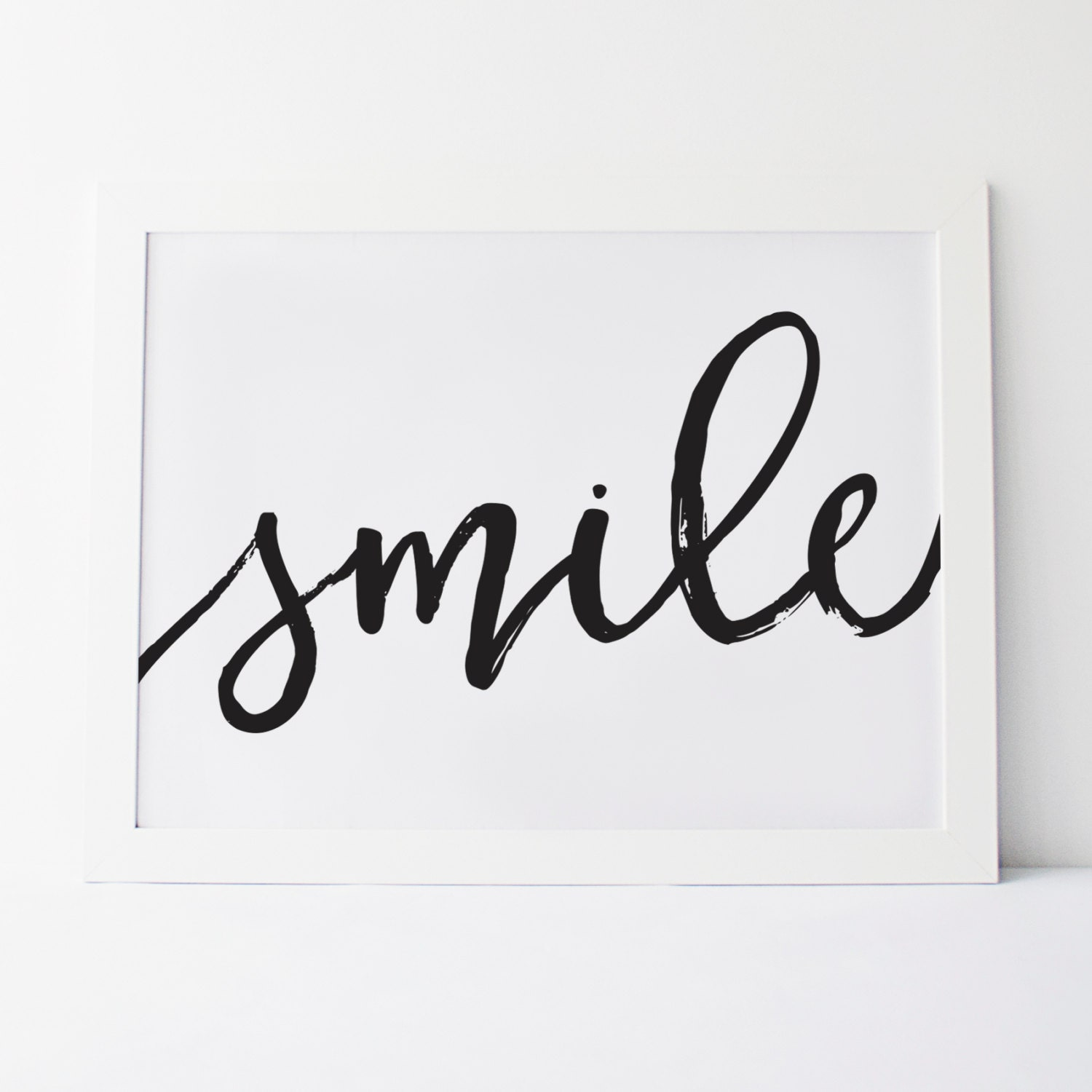 Printable Art Smile Cursive Smile Wall Art Wall