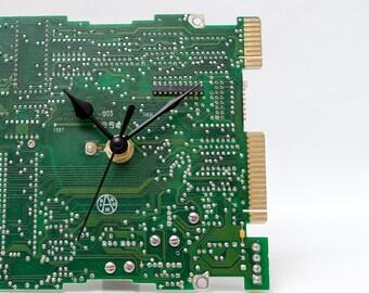 Circuit Board Clock - Unique Desk Clock - Small Office Clock - Computer Clock - Unique Gift - Geek Gift - Boyfriend Gift - Husband Gift