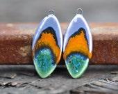 glazed unilaterally art beads ceramic components earrings handcrafted ceramic earrings  gypsy ceramic best gift zolanna bohemian earrings