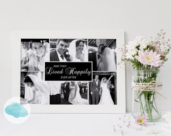 Personalised 'Happily Ever After' Framed Print