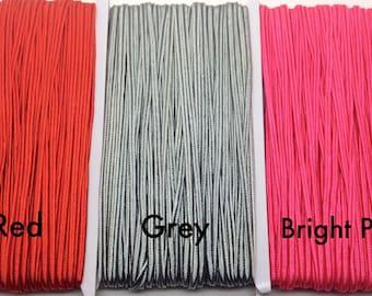 3m Soutache braid cord 4mm soutache cord gray soutache red soutache pink soutache cord jewelry making cord trim braid