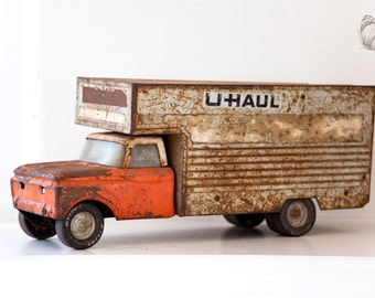 1960s Nylint U Haul Truck Toy - Rusty Patina - Free Shipping Within the USA