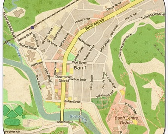 Banff Vintage Map Coasters