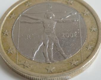 1 EURO coin collectable  - leonardo da vinci